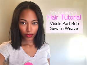 black hair weave part in the middle weave bob hairstyles with side part photosgratisylegal