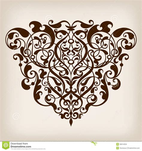 baroque designs vector vintage baroque frame corner ornate stock vector