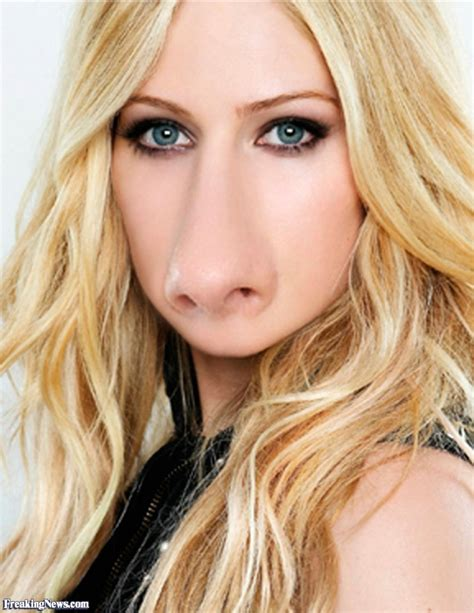 with big nose avril levigne with a big nose pictures freaking news