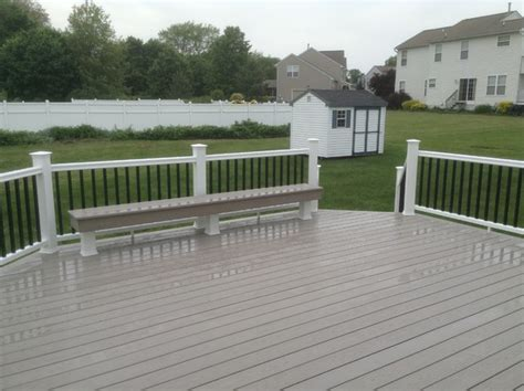 azek bench azek deck with bench incoporated