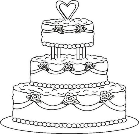 wedding cake coloring page coloring pages wedding