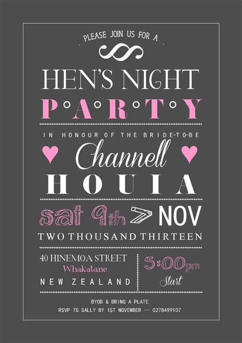 hens night invitation hens night pinterest
