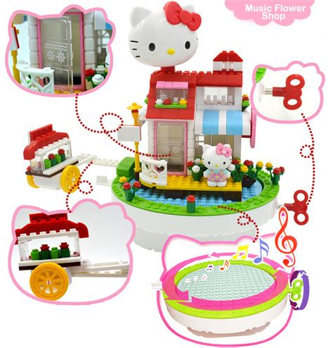hello kitty doll house toys r us toys for girl pink color hello kitty doll house block rotation music box cute best for