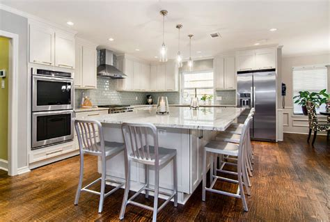 Eat On Kitchen Island Large Eat In Island Transitional Kitchen Dallas By Hatfield Builders Remodelers