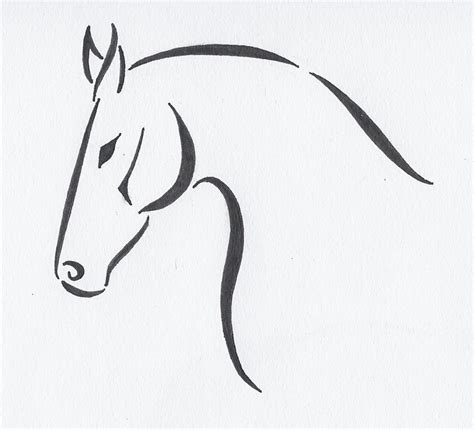 horse tattoo designs free simple tribal designs