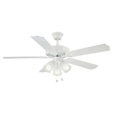 52 inch white ceiling fan brookhurst 52 in indoor white ceiling fan yg268 wh the