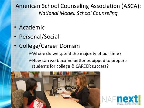 national school counselor association school counselors become a change for college and