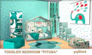 Bedroom Sets For Toddlers Toddler Bedroom Quot Pitusa Quot Sims 4 Custom Content