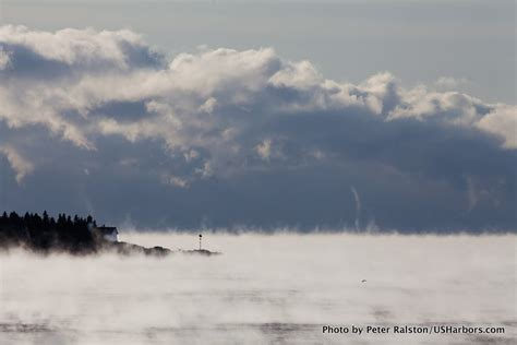 sea smoke winter s grip on the new england coast maine