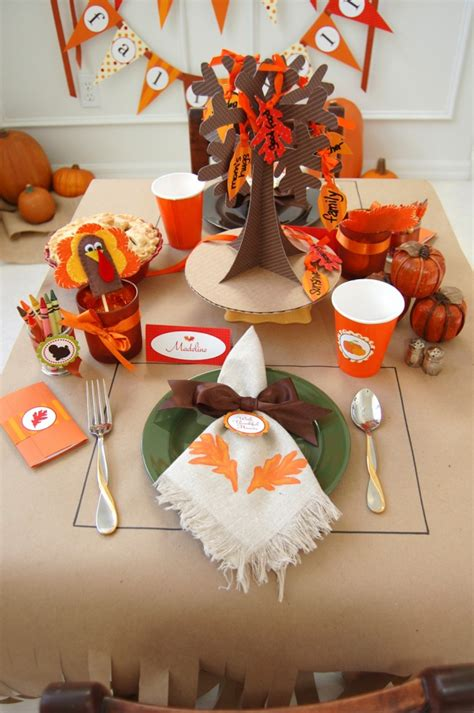 kid crafts for thanksgiving table decorations thanksgiving table decoration crafts for photograph 1