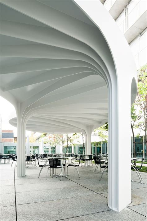 leaf pattern gazebo gallery of leaf structured canopy sam architekten und
