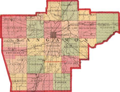 Sangamon County Illinois Records Sangamon County Illinois 1870 Map