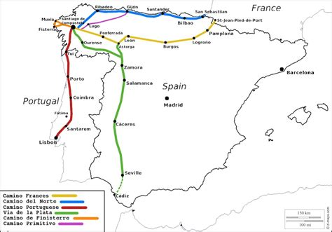 camino routes camino de santiago routes which way