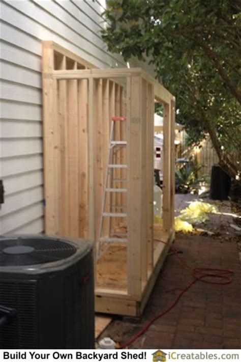 lean  shed wall framing home improvements