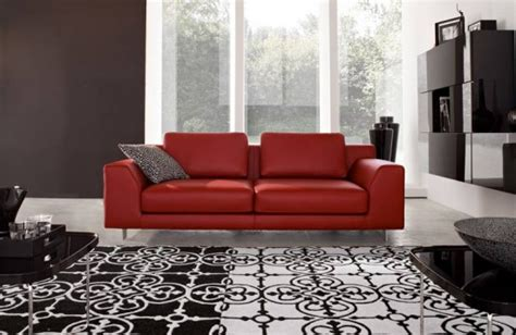 black white red living room decorating living rooms design with red couch and red sofa