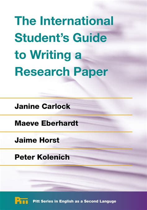 guide to writing a research paper the international student s guide to writing a research paper
