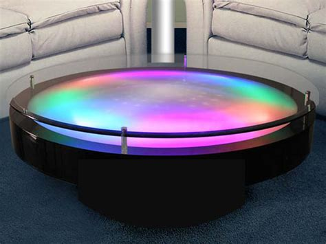 lighted acrylic coffee table funky and unique style