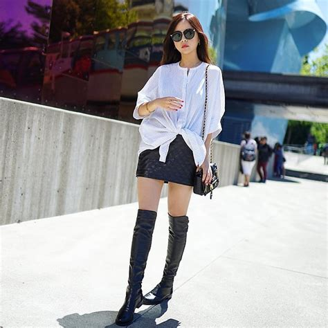 shelly liu stuart weitzman boots thigh high boots