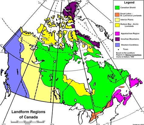 canada regions map western cordillera landform region