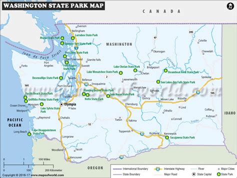 state parks in map washington state parks map list of washington state parks