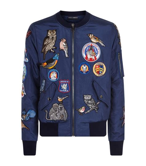 Patchwork Jacket Mens - dolce gabbana patchwork bomber jacket in blue for lyst