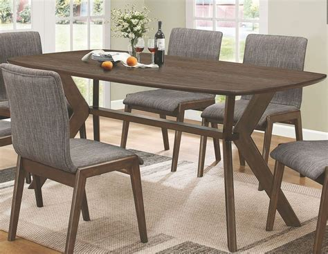 warm brown formal dining room sets for 8 with glass door mcbride warm brown rectangular dining room set from