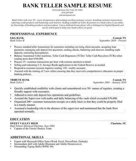 resume templates for lead teller 461 best images about resume sles on resume builder cover letters and