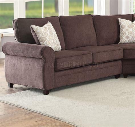 chenille sectional sleeper sofa randolph sectional sofa w sleeper 53375 in chocolate chenille
