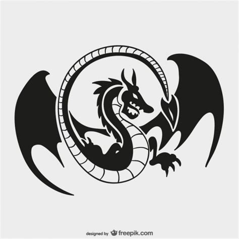 logo tattoo copyright dragon logo template vector free download