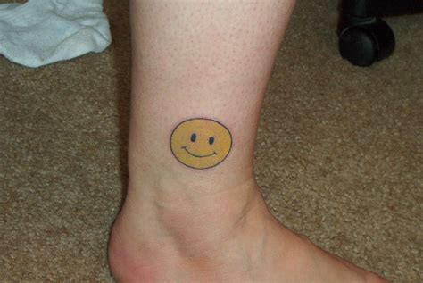 smiley face tattoo images designs