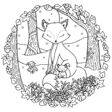 christmas fox coloring page 4646 best colouring drawing images on pinterest