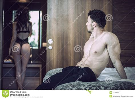 sexy couple bedroom images sexy couple in bedroom stock images image 27318634