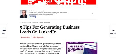 generating business leads on linkedin due on forbes due