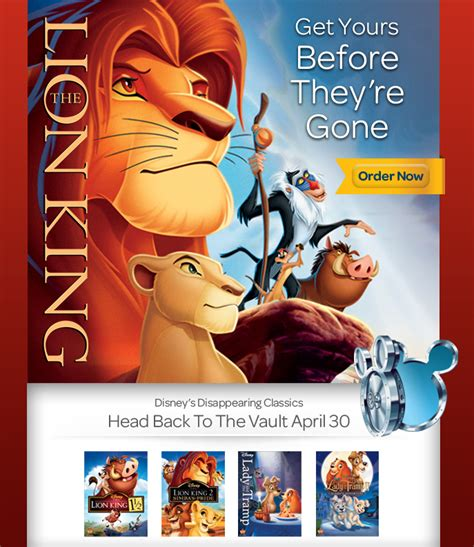 Disney Vault Release Calendar Last Day The King And And The Tr Going In