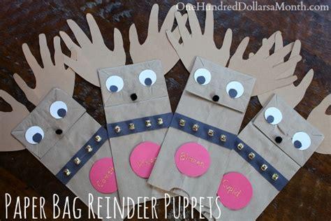easy christmas crafts  kids paper bag reindeer
