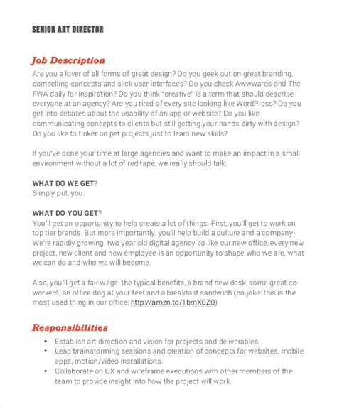 Creative Director Responsibilities by Director Description Responsibilities Director Description Template Workable
