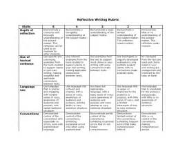 Critical Reflection Essay Rubric reflective writing rubric