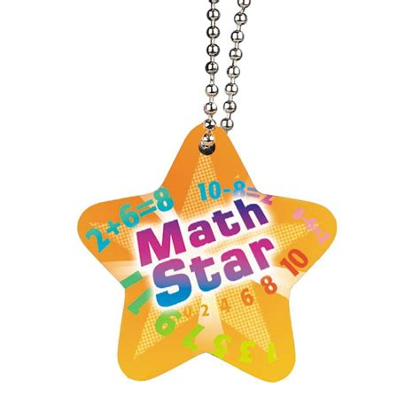 printable star awards math award tag with 4 quot chain positive promotions