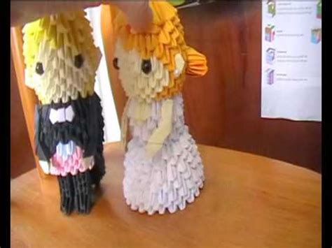 3d Origami And Groom - and groom 3d origami