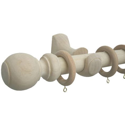 Smart home products 160cm x 33mm wooden natural curtain rod set
