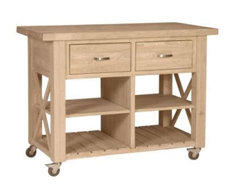 unfinished furniture kitchen island unfinished x side kitchen island wc 12 free shipping unfinishedfurnitureexpo