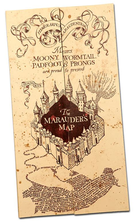 Marauders Map harry potter paraphernalia how to make a marauder s map