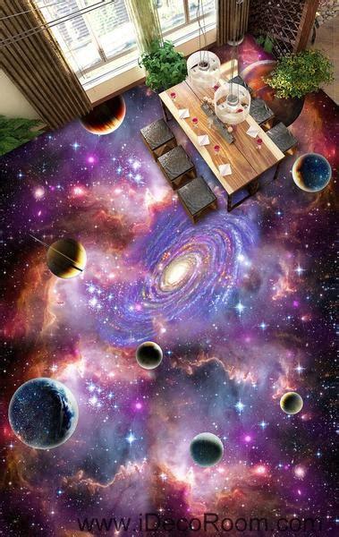 universe planet nebula galaxy  floor decals