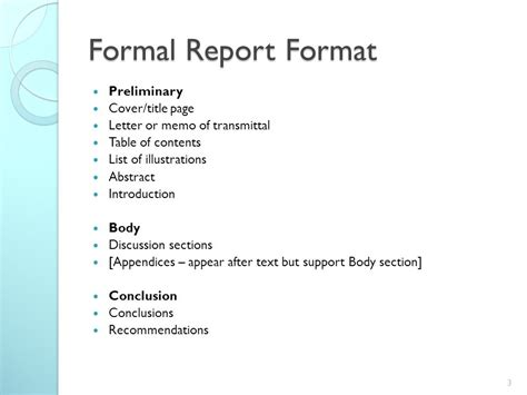 Preliminary Section In Report Writing by Report Writing Ppt