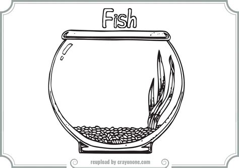 coloring pages fish bowl fish bowl coloring page printable coloring home