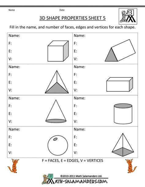 Printable Geometry Worksheets by 36 Best Images About On Activities