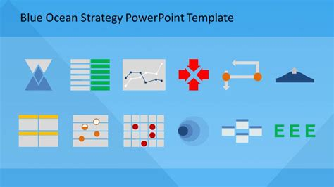 strategy template powerpoint blue strategy powerpoint template slidemodel
