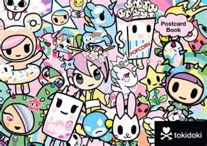 tokidoki multi characters postcard book by tokidoki