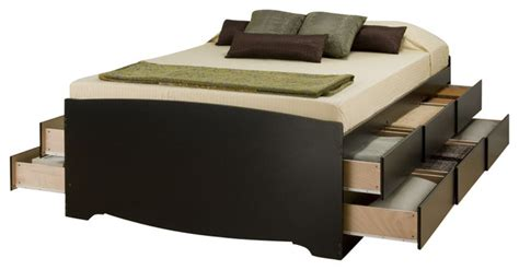 12 drawer storage bed full prepac tall full double 12 drawer platform storage bed