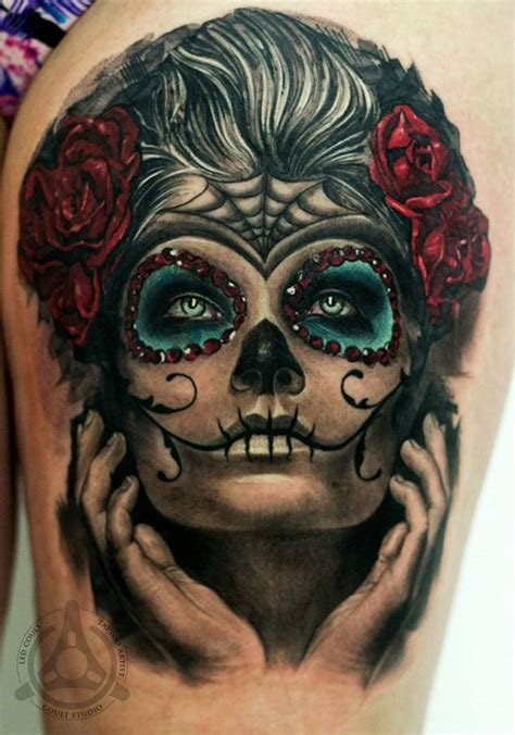dia delos muertos tattoos beautiful catrina day of the dead dia de los muertos